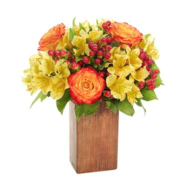 Sunburst of blossoms flower bouquet (BF528-11K)